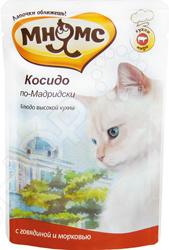 Корм влажный для кошек Мнямс «Косидо по-Мадридски» с говядиной и морковью