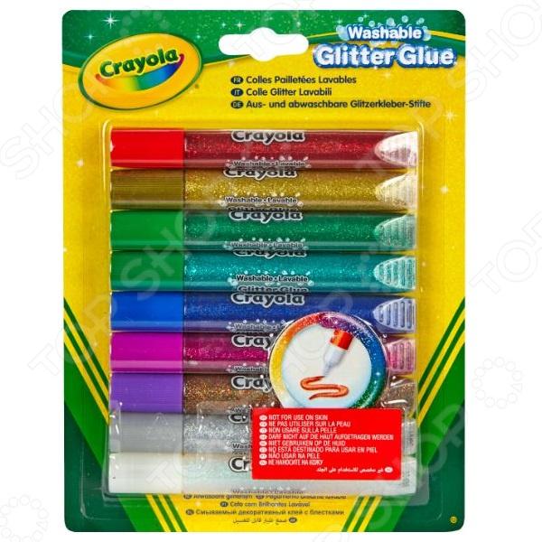 Клей с блестками Crayola 69-3527 crayola llc crayola oil pastels 28 color set set of 12