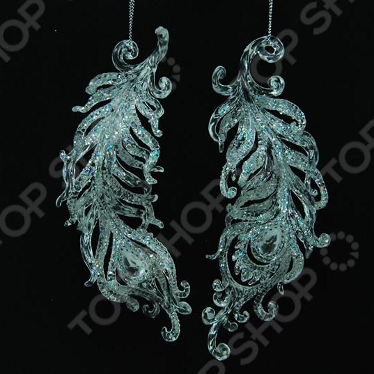 Новогоднее украшение Crystal Deco «Перо». В ассортименте