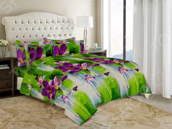 Комплект постельного белья «Цветочек». Евро. Рисунок: свежесть