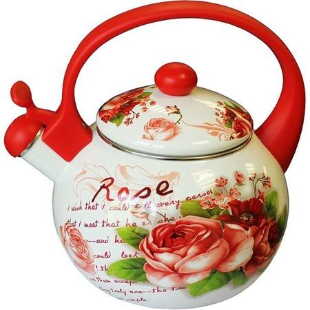 Купить Чайник со свистком Interos «Роза» 1904