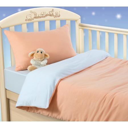 Купить Ясельный комплект постельного белья ТексДизайн «Персиковое облако»