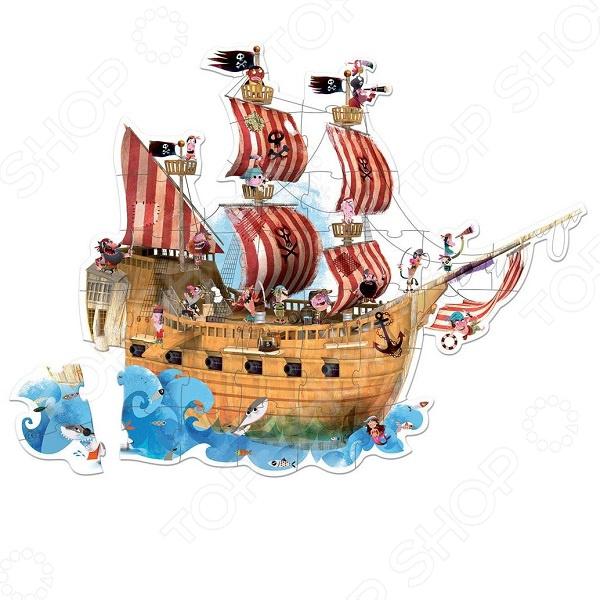 Пазл 39 элементов Janod «Пиратский корабль»