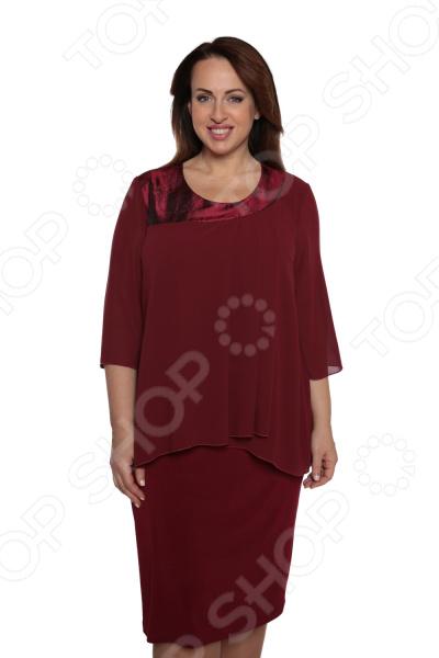 Платье Лауме-Лайн «Модный образ». Цвет: бордовый блуза лауме лайн перелетная птица цвет бордовый