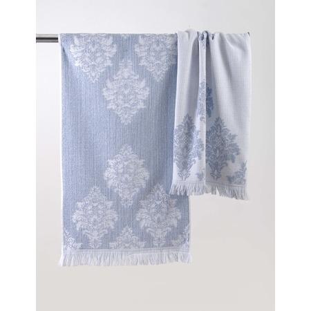 Купить Полотенце махровое ТексДизайн «Версаль». Цвет: серый