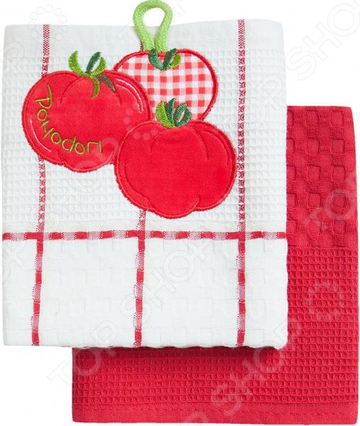 Комплект из 2-х кухонных полотенец BONITA «Помидор» ткань для полотенец оптом в москве