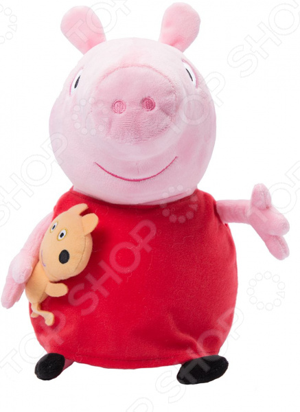 Мягкая игрушка Peppa Pig «Пеппа с игрушкой» мягкие игрушки peppa pig мягкая игрушка пеппа с игрушкой 40 см свинка пеппа