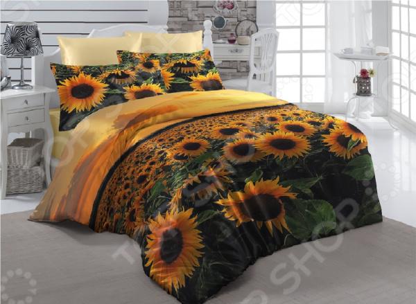 Комплект постельного белья ТамиТекс «Подсолнухи». 1,5-спальный