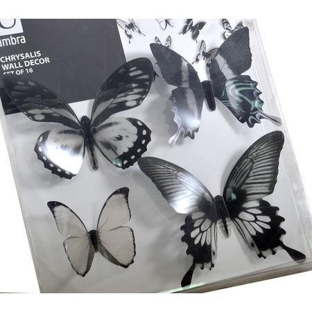 Купить Декор для стен Umbra Chrysalis Black «Тропические бабочки»