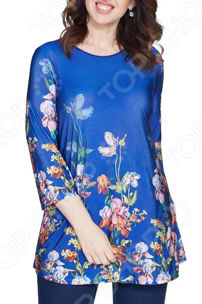 Блуза Лауме-Лайн «Яркое воспоминание». Цвет: васильковый цена 2017