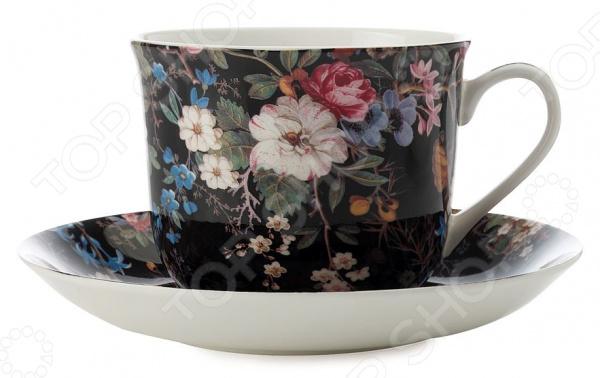 Чайная пара Maxwell&Williams «Полночные цветы» 1300