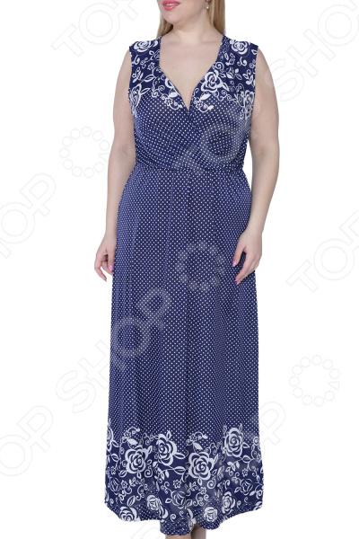 Платье Kidonly «Цветочный блюз». : синий