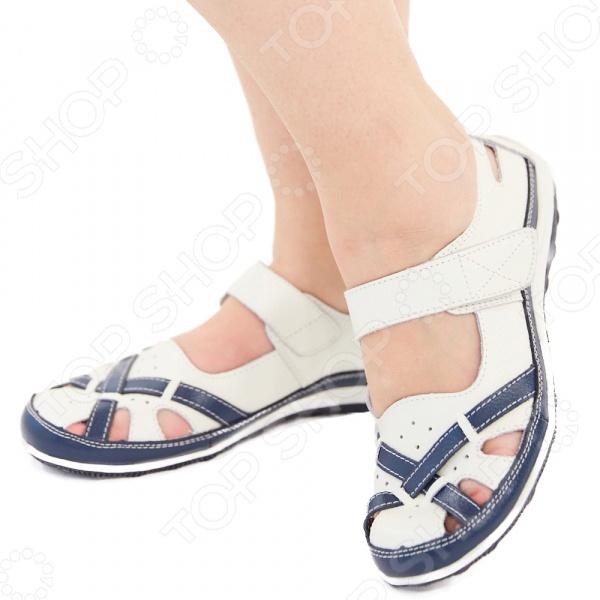 Туфли Эго «Рандеву». Цвет: белый, синий