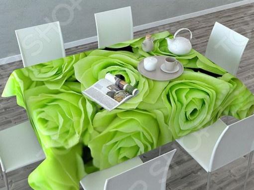 Фотоскатерть Сирень «Зеленые розы» чернила зеленые