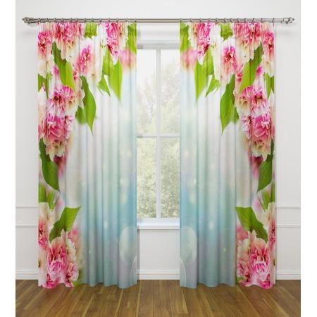 Купить Фотошторы Стильный дом «Арка из цветов»