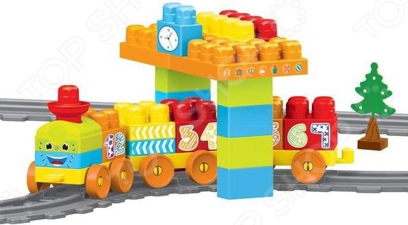 Игровой набор-конструктор Dolu «Моя первая железная дорога». Количество элементов: 58 шт конструктор dolu моя первая железная дорога 5081