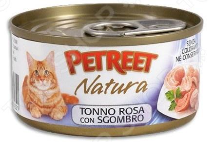 Корм консервированный для кошек Petreet Natura Tonno Rosa con Sgombro