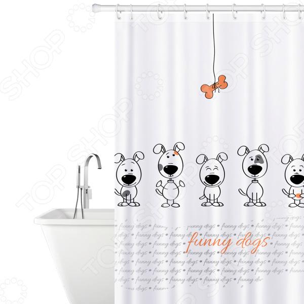 Штора для ванной Tatkraft Funny Dogs декоративные перегородки для зонирования комнаты калуга