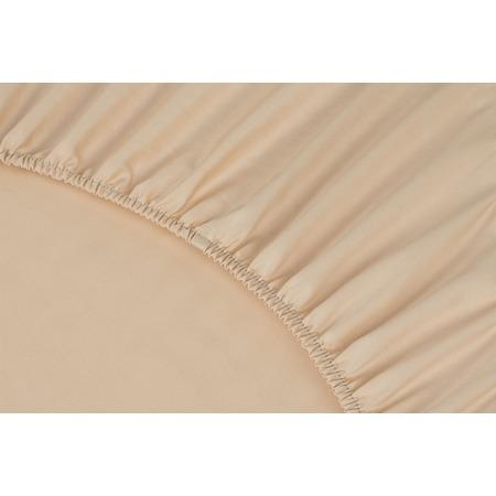 Купить Простыня на резинке Ecotex Premium. Тип ткани: сатин. Цвет: персиковый