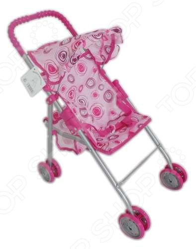 Коляска для кукол 1 Toy четырехколесная прогулочная с козырьком коляска для куклы lokotoys четырехколесная с поддоном красная