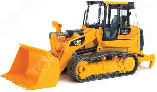 Погрузчик гусеничный игрушечный Bruder CAT с ковшом