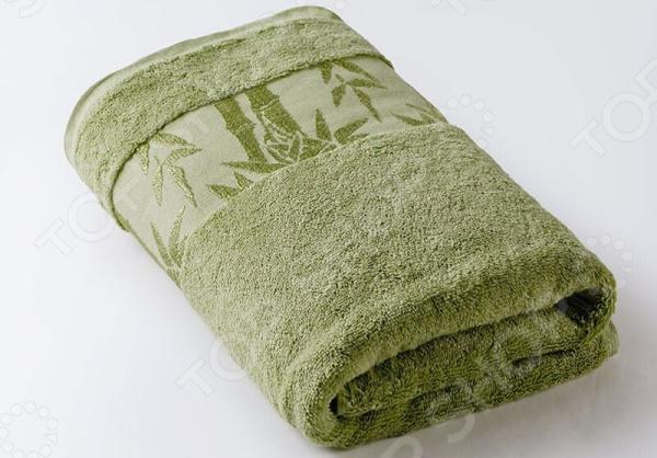 Полотенце махровое Ecotex «Бамбук». Цвет: салатовый
