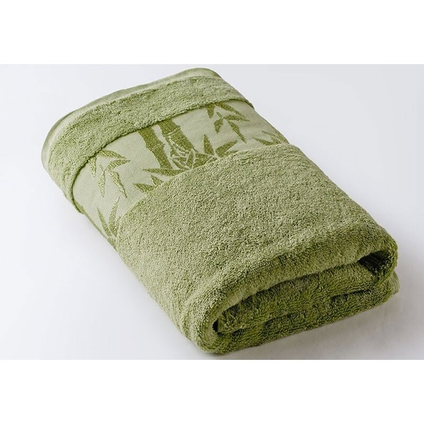 фото Полотенце махровое Ecotex «Бамбук». Цвет: салатовый. Размер полотенца: 67х130 см