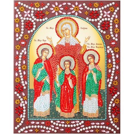 Купить Набор для творчества Color Kit «Алмазная живопись. Вера, Надежда, Любовь и Мать их София»