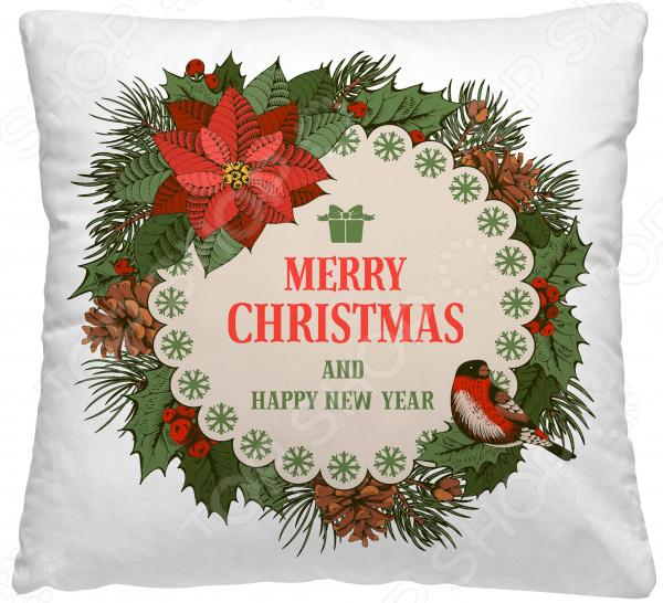 Подушка декоративная Волшебная ночь «Рождественский венок»
