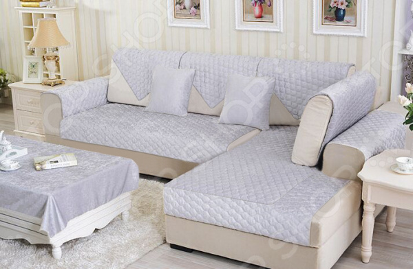 Комплект накидок на угловой диван Медежда «Корфу»