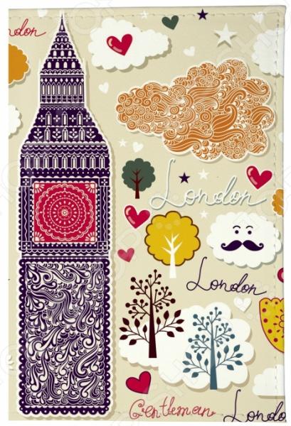 Обложка для паспорта кожаная Mitya Veselkov «Влюбленный Лондон» как дешевые билеты в лондон