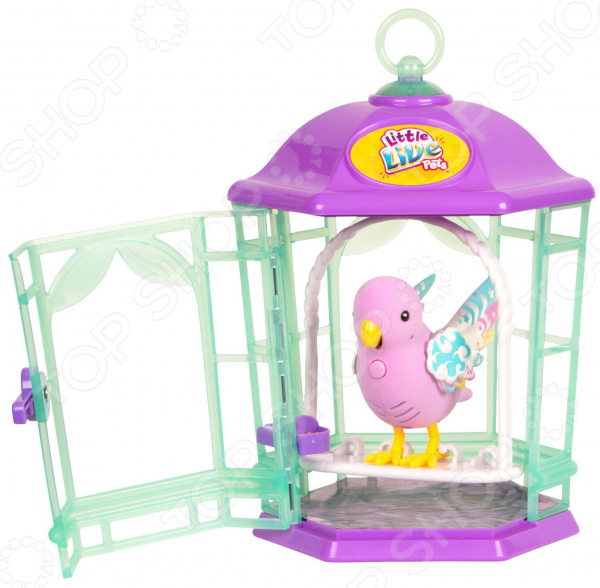 Игрушка интерактивная Moose Little Live Pets «Птичка с клеткой. Радужный свет» digibirds интерактивная игрушка птичка lacy