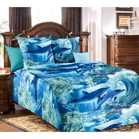 Купить Комплект постельного белья Белиссимо «Дельфинарий». 1,5-спальный