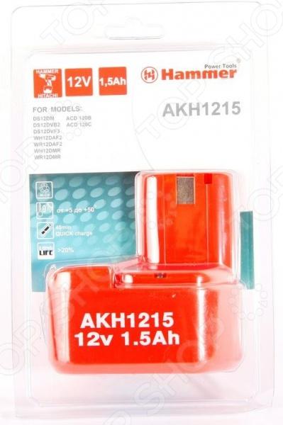 Батарея аккумуляторная Hammer Flex AKH1215 аккумулятор hammer akh1215 12в 1 5ач
