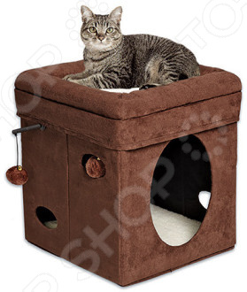 Домик для кошек MidWest Currious Cat Cube клетка midwest collapsible cat playpen 90x59x121h см для кошек