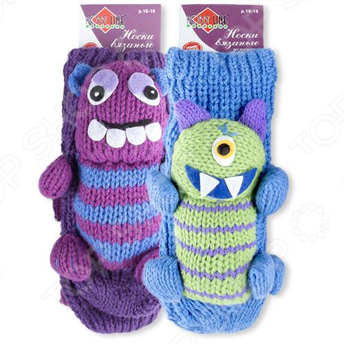 Носки детские с игрушкой HOBBY LINE «Монстрики». В ассортименте