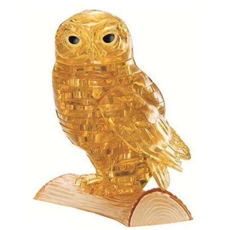 Купить Пазл 3D Crystal Puzzle «Сова янтарная»