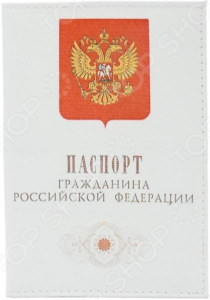 Обложка для автодокументов кожаная Mitya Veselkov «Гражданин РФ»