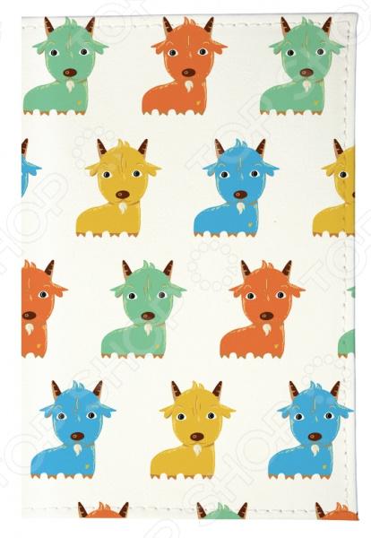 Обложка для паспорта Mitya Veselkov «Цветные козлята» polaris puh 1805i