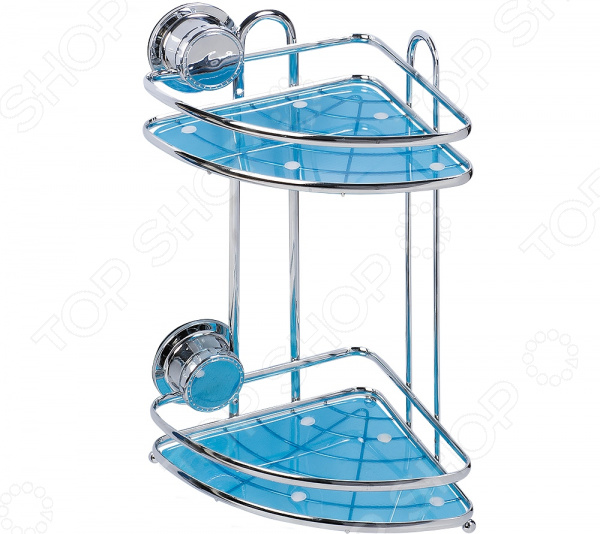 Полка для ванной угловая Tatkraft Vacuum Screw Conrad 2-х ярусная полка tatkraft mega lock одноярусная настенная с 2 вакуумными шурупами