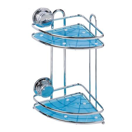 Купить Полка для ванной угловая Tatkraft Vacuum Screw Conrad 2-х ярусная