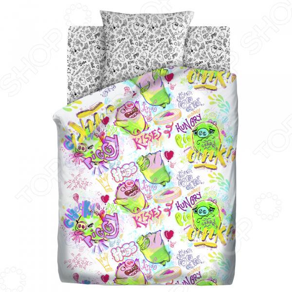 Детский комплект постельного белья Непоседа «Плохие свинки» постельное белье angry birds комплект постельного белья 1 5 бязь плохие свинки