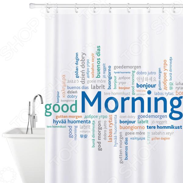 Штора для ванной Tatkraft Good Morning полка для ванной tatkraft mega lock