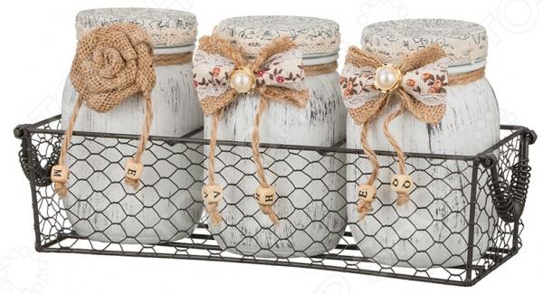 Набор банок для сыпучих продуктов «Бантик» gift planet набор банок для сыпучих продуктов прованс из 4 х шт 13231
