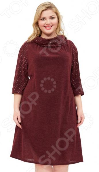 Платье Wisell «Звездное сияние». Цвет: бордовый