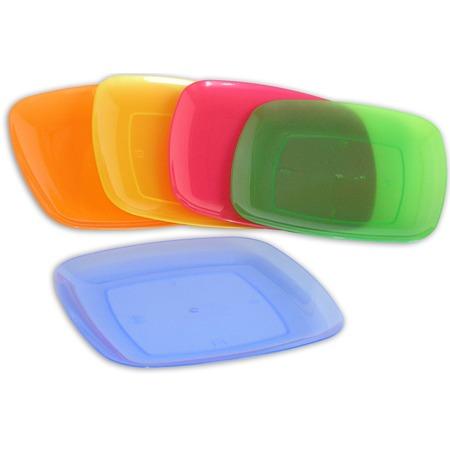Купить Набор тарелок для пикника Полимербыт квадратной формы