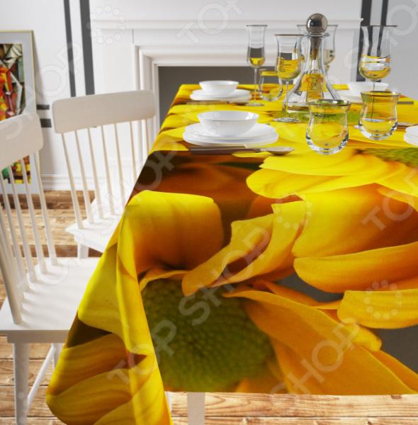 Скатерть Сирень «Желтые хризантемы»