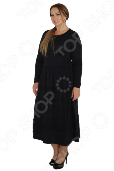 Платье VAY «Застенчивая улыбка». Цвет: темно-синий
