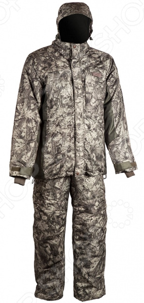 Костюм для рыбалки и отдыха зимний Huntsman Taslan «Амур». Цвет: антрацитовый