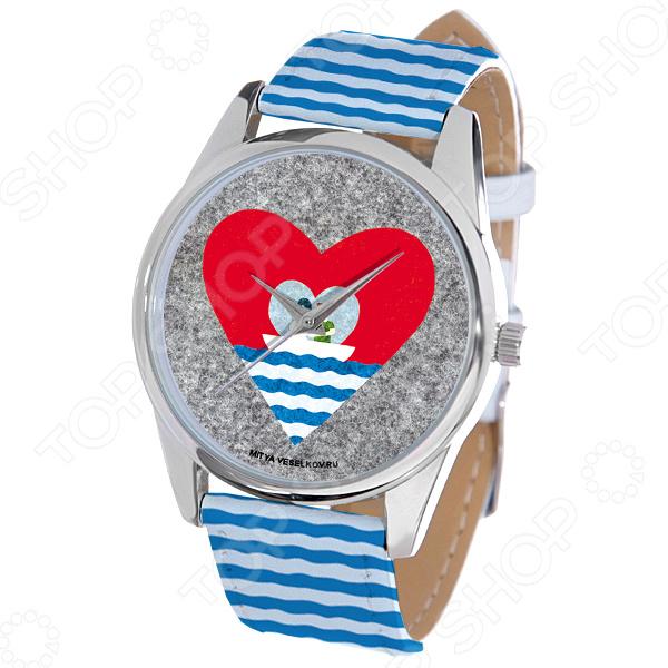 Часы наручные Mitya Veselkov «Лодка любви» ART-40